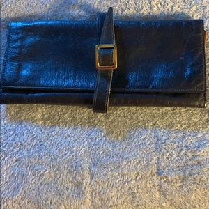Vintage Mark Cross travel jewelry pouch